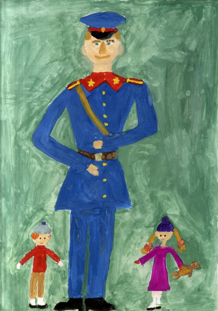 Рисунок о полиции в произведениях